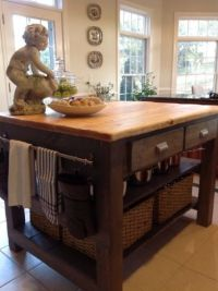 Homemade kitchen island