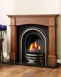 wood fireplace surrounds | For the Home | Pinterest