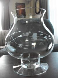 Princess house crystal heritage large candle holder 9 1/2