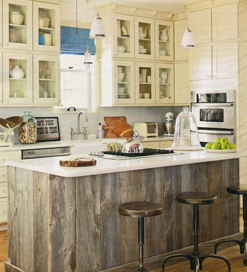 Old Barn Wood Kitchen Island Old Barn Wood Island | Someday...projects | Pinterest