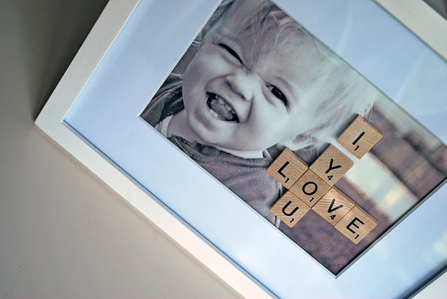 Love this idea...so many things you can do with Scrabble tiles!
