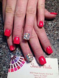 Nail art nail designs free hand 3d art | Tina's Nails ...