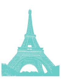 Tiffany blue Wall decor French Chandler Art Print Paris ...