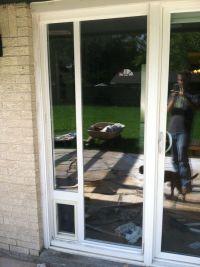 Dog Door Installation Sliding Glass Door | design | Pinterest