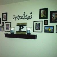 Grandchildren's photos wall arrangement   home decor ...