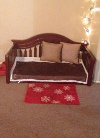 DIY Dog Bed from upcycled crib mattress and crib. We re ...