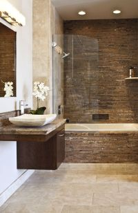 Forest Brown Marble Bathroom | bathroom tile | Pinterest