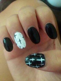 Pointy Nails Designs With Cross | Joy Studio Design ...