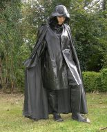 Black Rubber Raincoat Cape Hat Waders RAINWEAR Pinterest