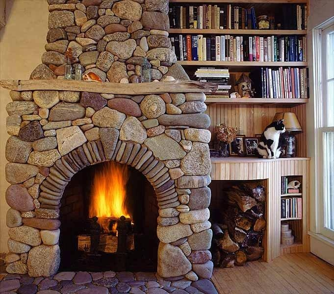 Fieldstone Fireplace Home Living Area In Our Future