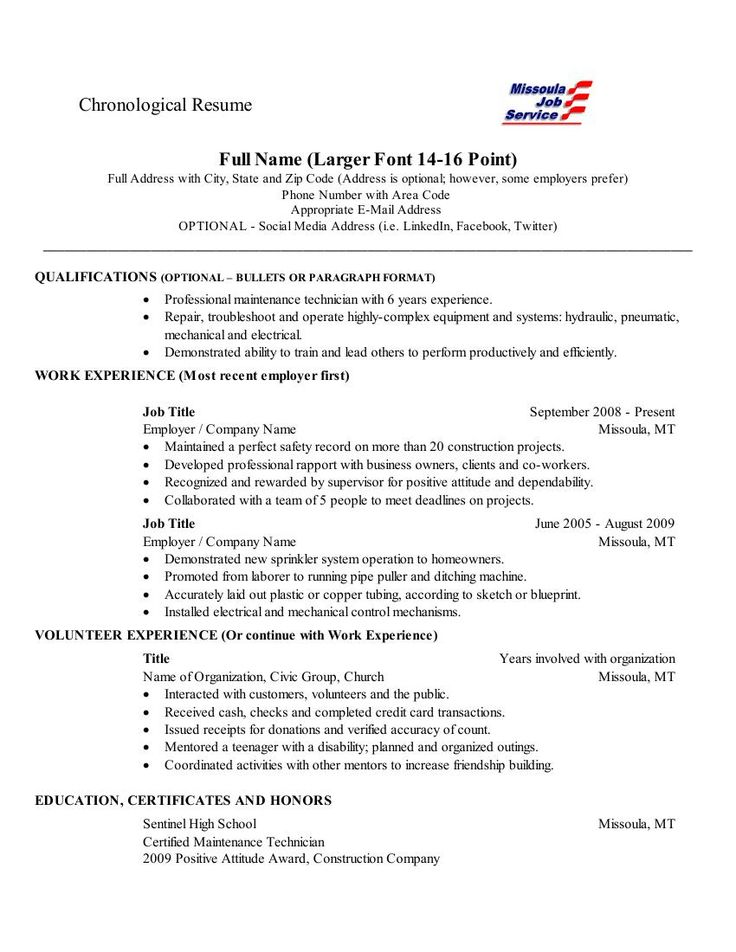 education on resume order - Template