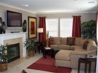Living Room color scheme; tan and maroon | Living Room ...