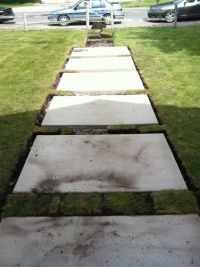 Concrete step stone walkway | Brick House Ideas | Pinterest