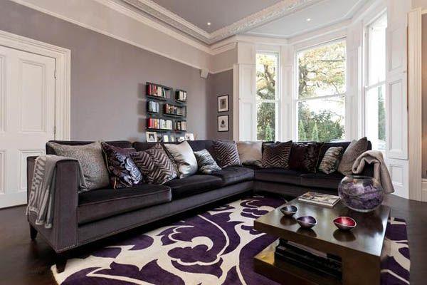 Purple And Grey Living Room Ideas u2013 Modern House - purple and grey living room