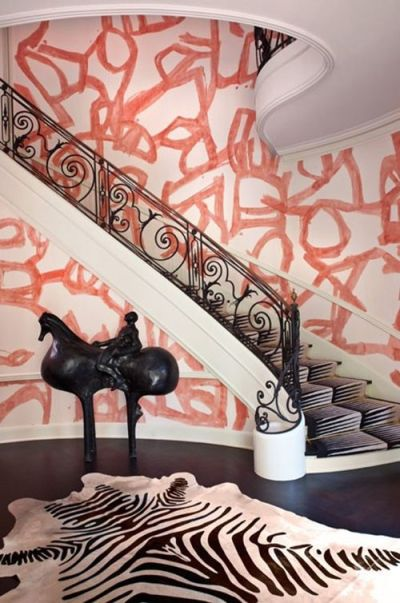 Kelly Wearstler wallpaper | Punk | Rock | Interiors | Pinterest