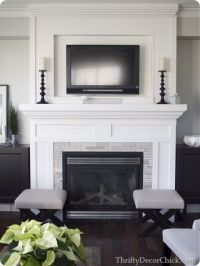 Fireplace makeover | Ideas for the House | Pinterest