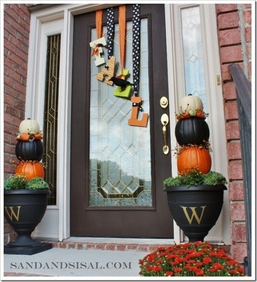 "So dosn't get cuter! fall front porch decorating ideas | DIY Fall Front Porch Decorating Ideas | Where the Heart is!!! Welcome guests to your fall home!!! Entryways should never be neglected, they make your first impression!!! This porch says, "" Happy Fall, Y'all!!!"