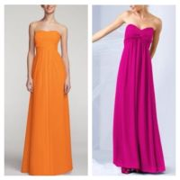 My pink & orange bridesmaids dresses!