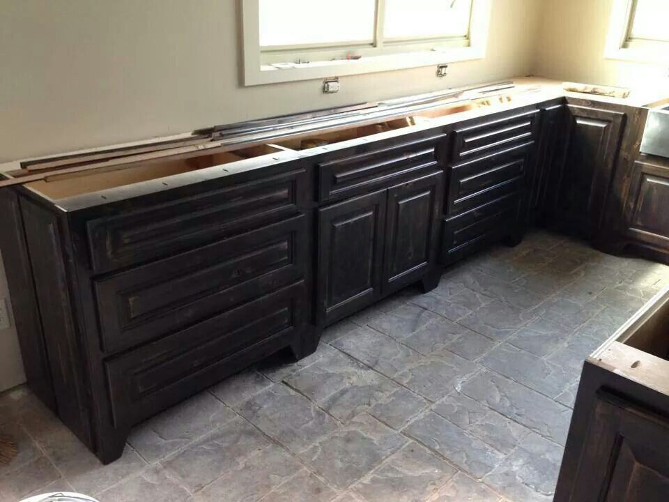 How To Stain Kitchen Cabinets Espresso Espresso Stained Cabinets | Kitchen | Pinterest