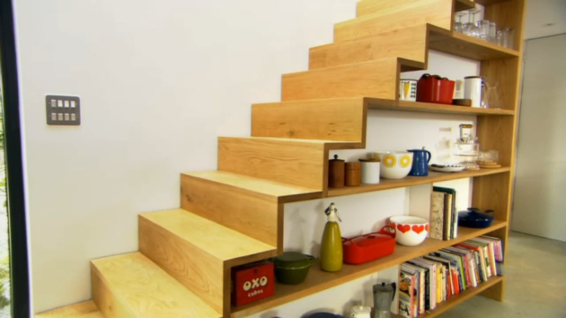 Stairs Shelves Genius Placement Of Stairs With Shelves Collection Home