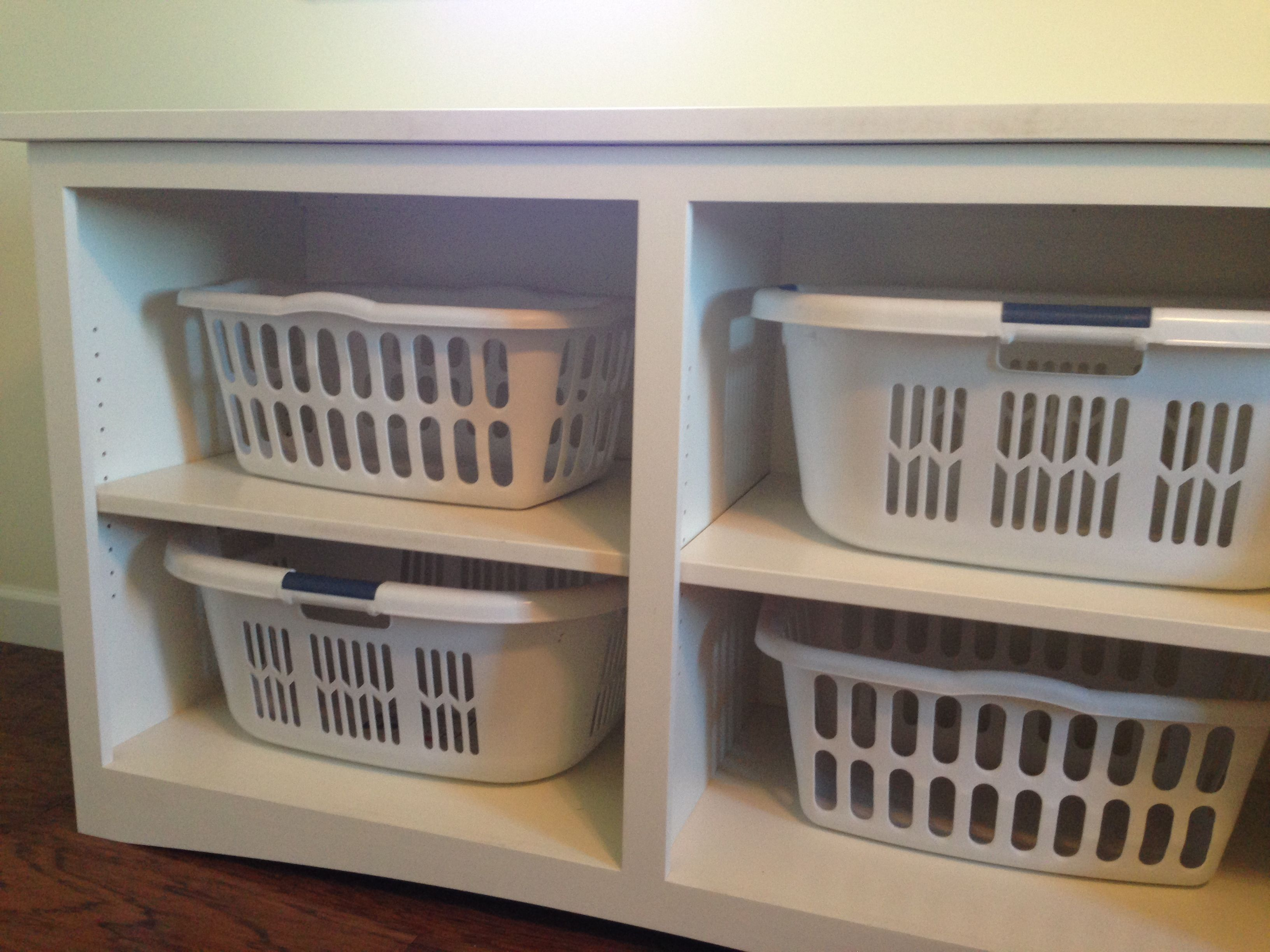 Laundry Basket With Shelves Laundry Basket Storage The Five Year Plan Pinterest