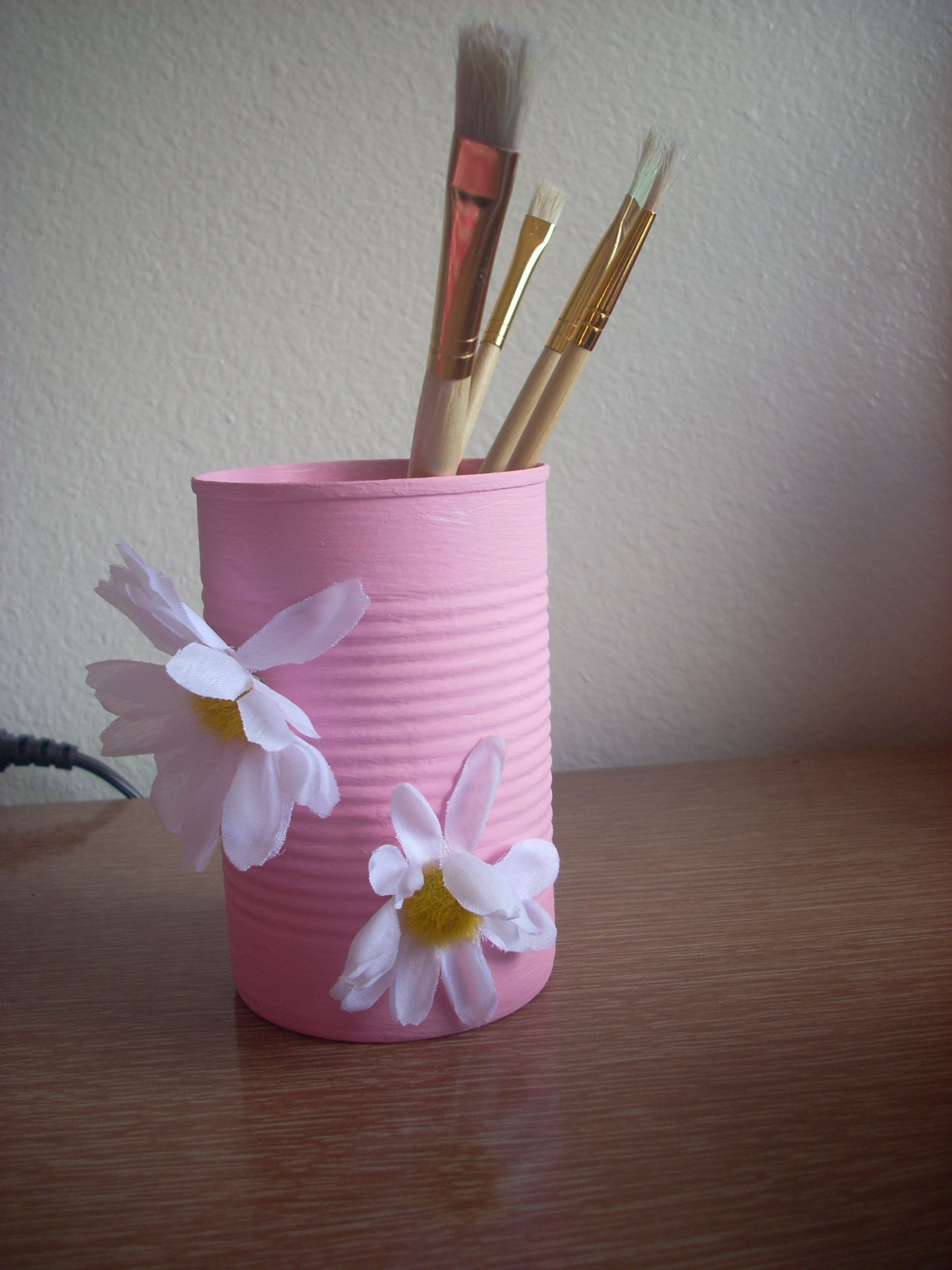 Tin Can Pencil Holder School Crafts And Arts Pinterest
