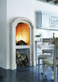 kitchen fireplace. Dreaming of pizza. | kitchens | Pinterest