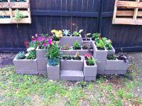 Cinder Block Flower Garden