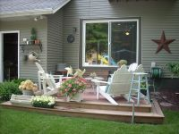 uncovered deck make over | Home Sweet Home | Pinterest
