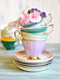 Beautiful Tea Cups   Kitchen dishes   Pinterest