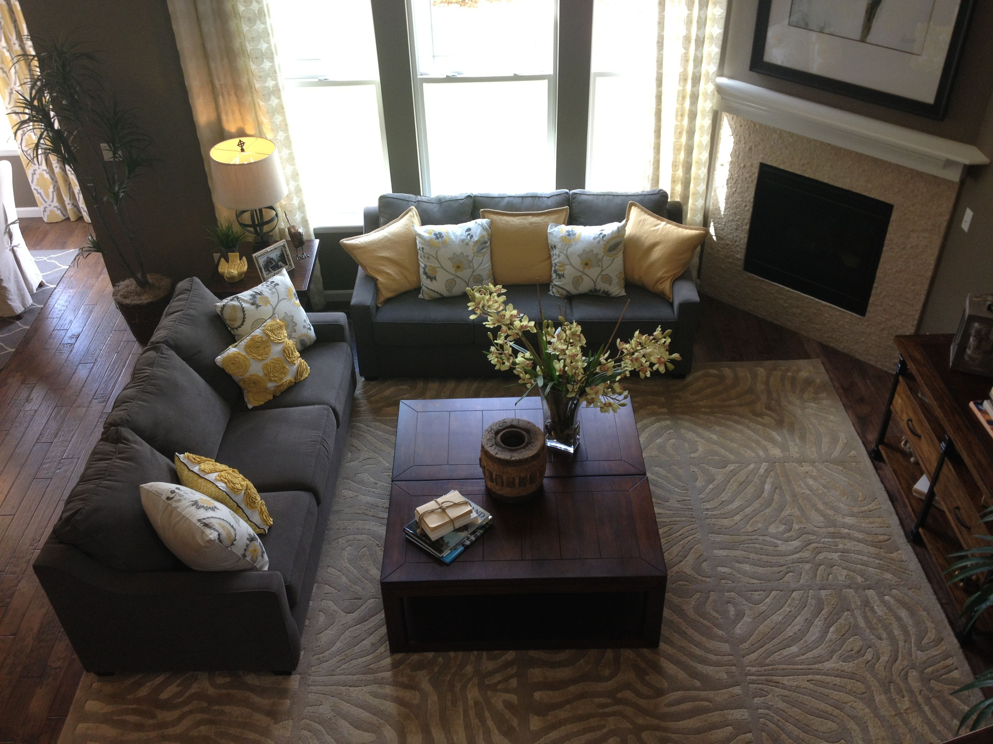 Yellow And Gray Living Room Gray And Yellow Living Room For The Home Pinterest