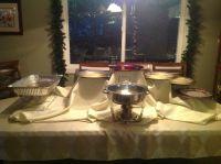 Buffet table set up | Burst Into Spring | Pinterest