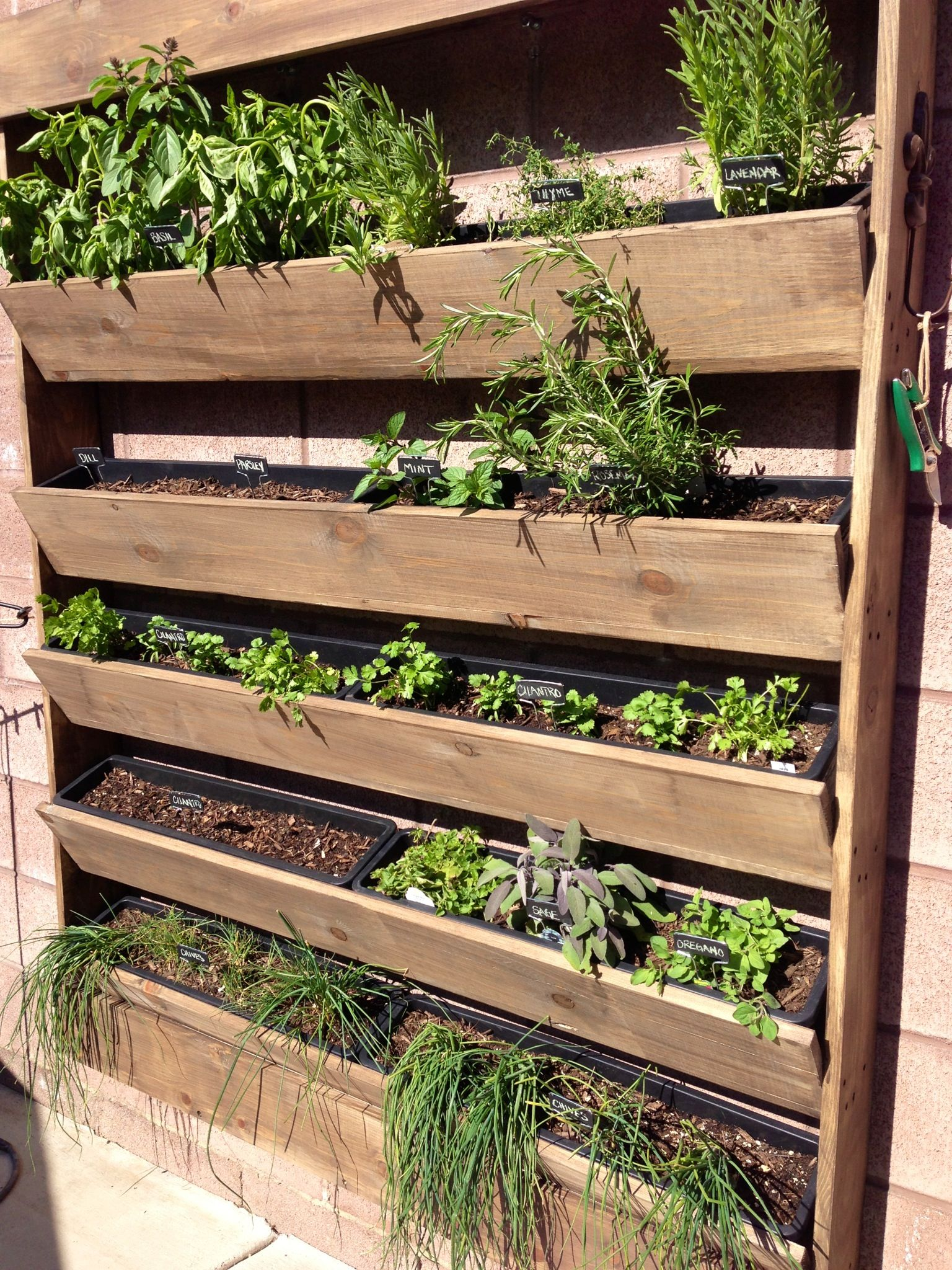 Herb Wall Herb Wall Planter Garden For The Home Pinterest