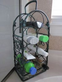 Use a wine rack to hold your bath items. | Organize ...