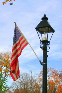 Lamp Post and flag | Light The Way | Pinterest
