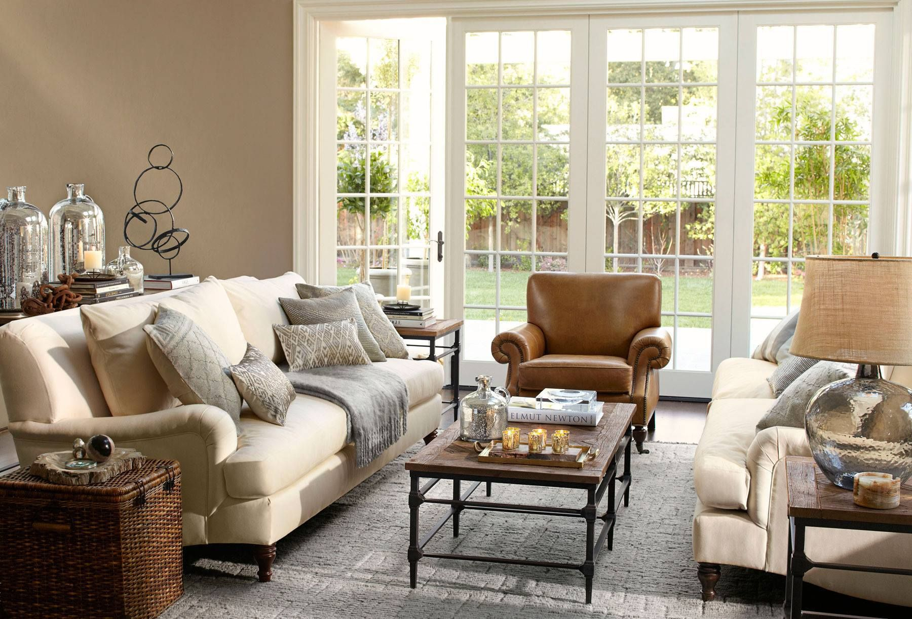 Using Outdoor Furniture Indoors Pottery Barn Living Room For The Home Pinterest