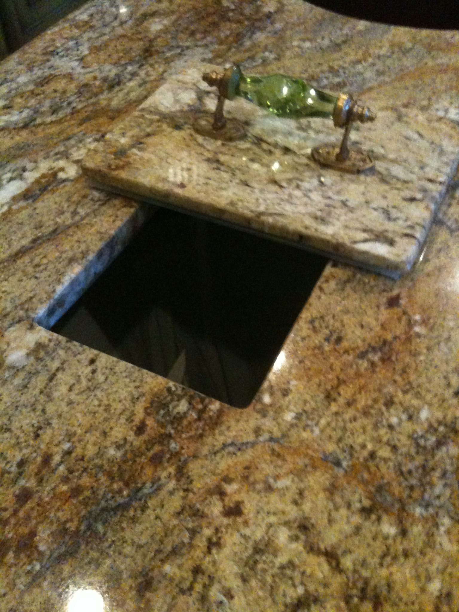 Countertop Trash Chute Trash Hole In My Countertop Kitchen Pinterest
