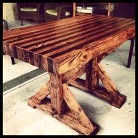Butcher block table I made.   home   Pinterest