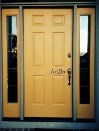 "Yellow front door | ""Someday"" home 