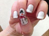 Christmas Gel Nail Art   Nail Art   Pinterest