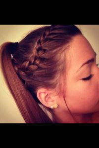 Braid into ponytail. | Hair | Pinterest