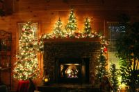 Christmas fireplace decorations | Fireplace Mantles ...