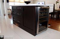 built-in wine cooler. | KITCHEN CABINET DESIGNS | Pinterest