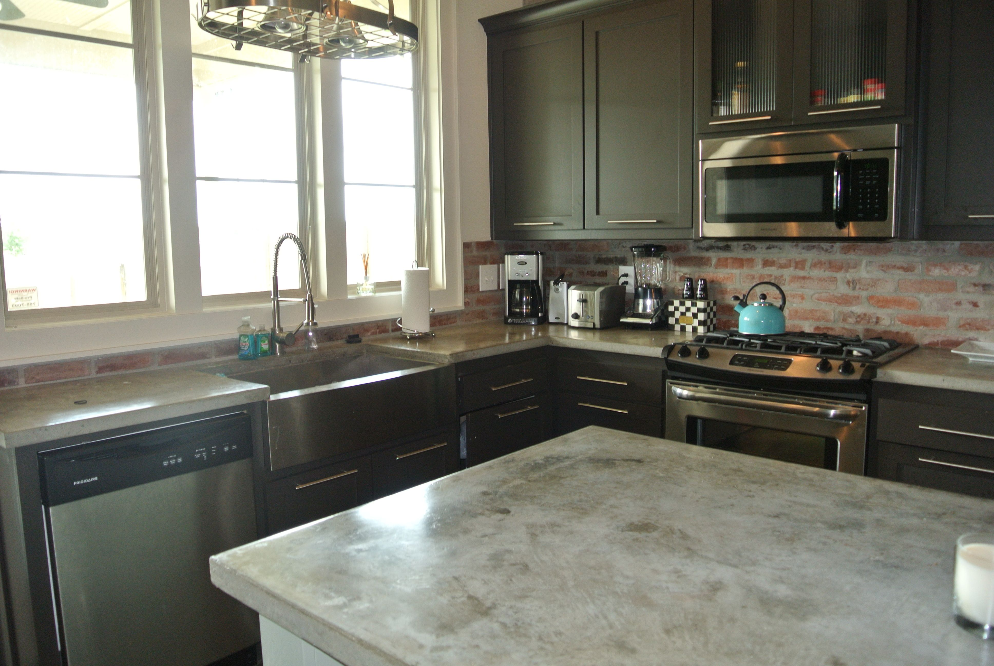 Finished Concrete Countertops Stained Concrete Countertops For The Home Pinterest