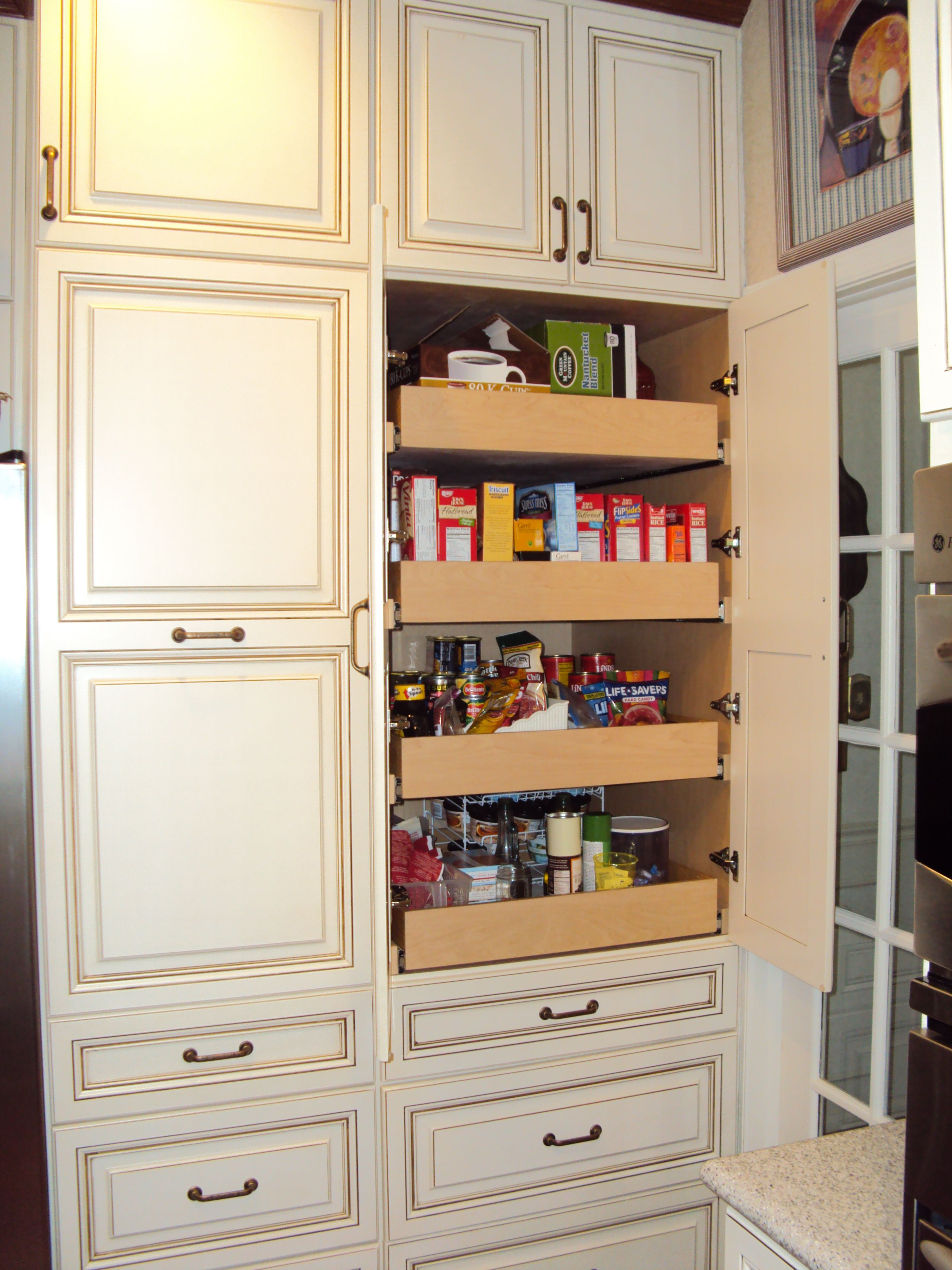 Custom Kitchen Pantry Cabinet Custom Pantry By Kitchen Saver Get Organized Pinterest