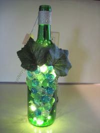 Wine bottle lamp | Craft Ideas | Pinterest