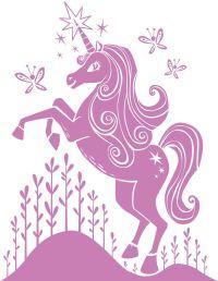 Pink unicorn wall decal | Unicorns | Pinterest