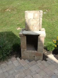 DIY fire pit, made from pavers | diy | Pinterest