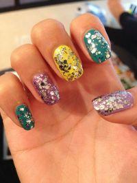 Mad hatter glitter nails | Nails | Pinterest