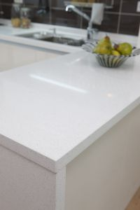 White quartz kitchen countertop | Kitchen Reno | Pinterest